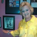 Karen with a pic of her Dad, Onie Wheeler