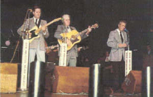 """""""The way they were on the Opry stage, the night my daddy passed away."""" (l to r: A.J. Nelson, Doyle Nelson & Onie Wheeler)"""